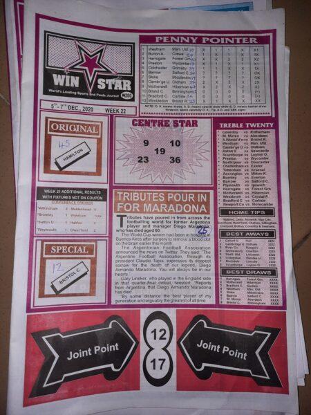 week 22 winstar 2020 page 1