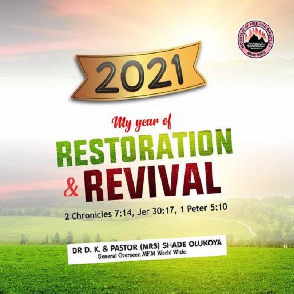 Dr DK Olukoya 34 Prophecies for 2021