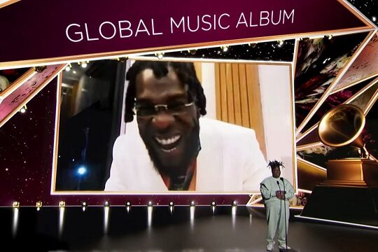 Burna Boy Best Global Music Album at 2021 Grammys