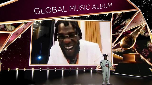 Burna Boy Best Global Music Album at 2021 Grammys