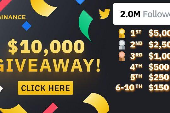 How to win Binance 10000 Giveaway